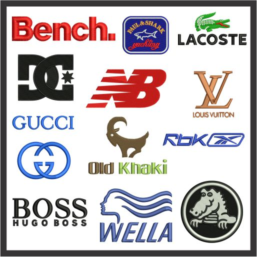 Fashion and clothing logos