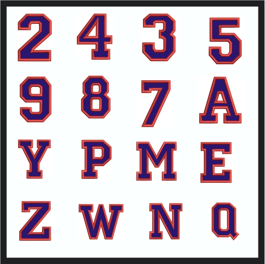 Collegiate Letter Applique embroidery design