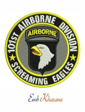 101st Airborne Division Screaming Eagles embroidery design