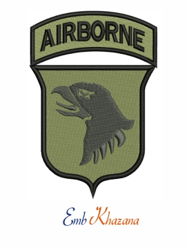 101st Airborne Division Logo Embroidery Design