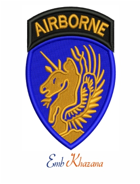 13th Airborne Division embroidery design