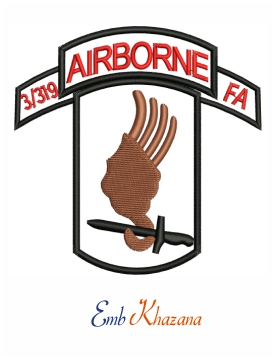 173 Airborne Embroidery Design