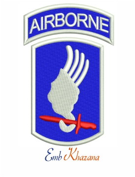 173rd Airborne embroidery design