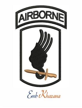 173rd Airborne Logo Embroidery Design
