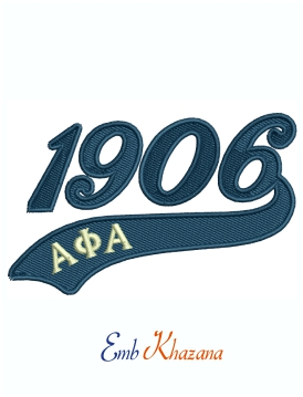 Alpha Phi Alpha 1906 Fraternity Machine Embroidery Design