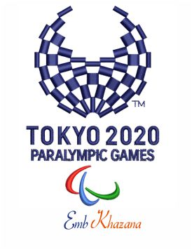 2020 Summer Paralympics embroidery design