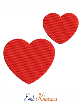 Two Red Heart Design