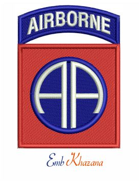 82nd Airborne Division Logo embroidery design