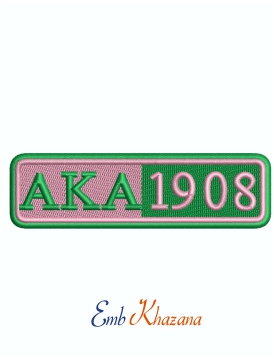 Alpha Kappa Alpha Military Patches Machine Embroidery Design