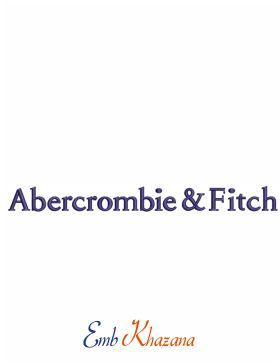 Abercrombie logo Embroidery Pattern