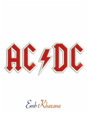 AcDc Logo Embroidery Design