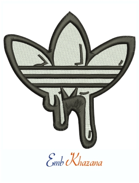 Adidas Logo Machine Embroidery Design