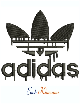 Adidas Dripping Logo And Symbol Machine Embroidery Design