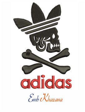 Adidas Skull Embroidery design