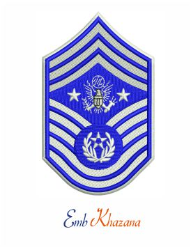 Air Force chief master sergeant insignia embroidery design
