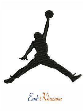 Air jordan jumpman logo embroidery design