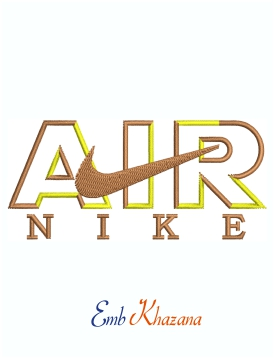 Nike Air Logo Machine Embroidery Design