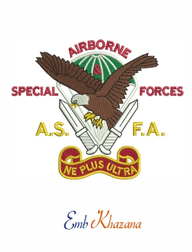 Airborne Special Forces embroidery design