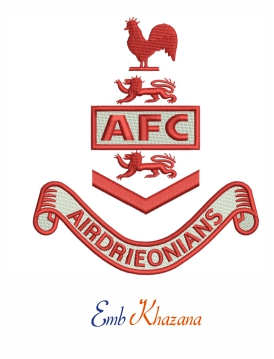airdrieonians fc logo embroidery design