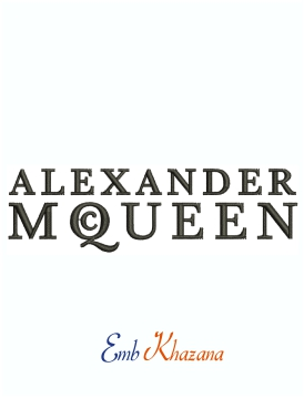 Alexander Mcqueen Logo And Symbol Machine Embroidery Design