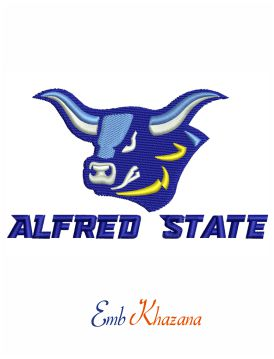 Alfred State College Logo Embroidery Design