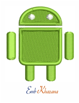 Android logo embroidery design