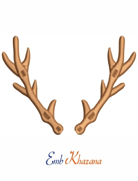 Antler Christmas Embroidery Design