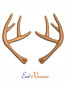 Antler Embroidery Design