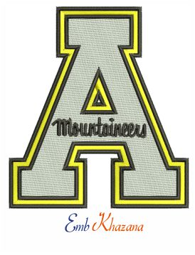 Appalachian State Mountaineers Embroidery Design
