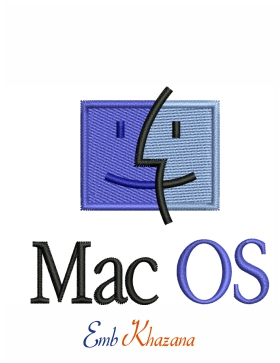 Apple Mac os Logo Embroidery Design