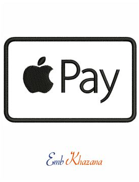 Logo Apple pay embroidery design
