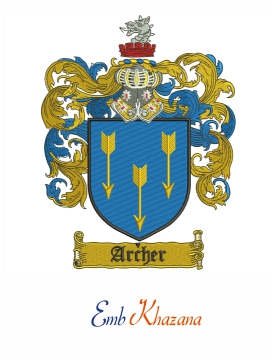 Archer Family Crest Embroidery Design