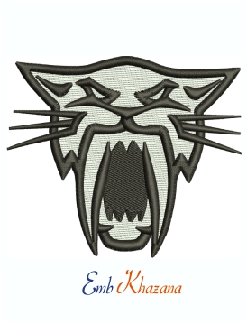 Arctic Cat Snowmobile Head Logo embroidery design