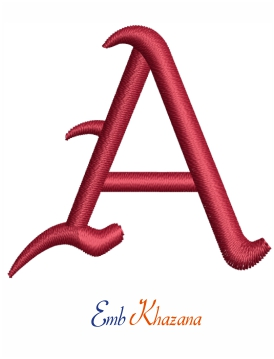 Arkansas A letters embroidery design