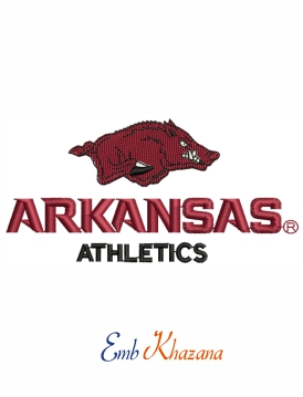 Arkansas Athletics embroidery design