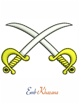 Army sword embroidery design
