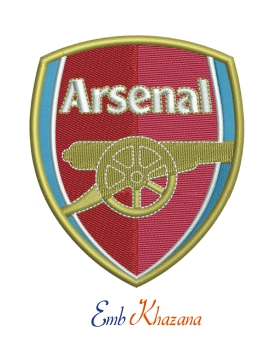 Arsenal fc logo Embroidery design