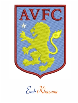 Aston Villa FC Logo Embroidery Design