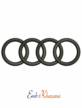Audi Ring embroidery design