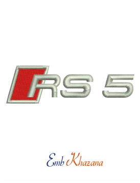 Audi Rs5 Logo Embroidery Design