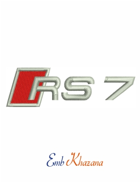 Audi rs7 logo embroidery design