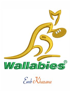 Australia national rugby union team embroidery design
