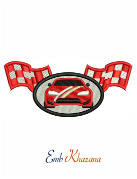 Auto parts logo embroidery design