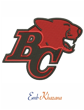 BC Lions Logo Embroidery Design