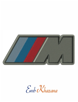 BMW m power logo embroidery design