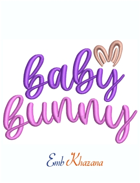 Baby Bunny Machine Embroidery Design