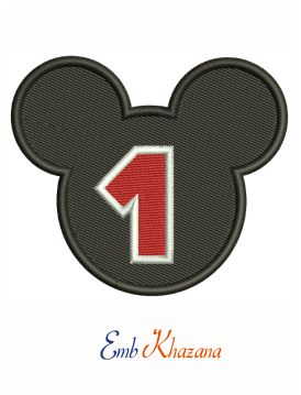 Baby Mickey mouse 1st birthday embroidery design