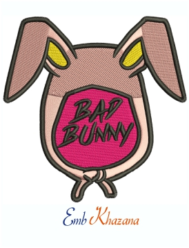 Bad Bunny Easter Machine Embroidery Design