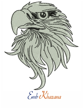 Bald Eagle American Bird Head Eagle Embroidery Design
