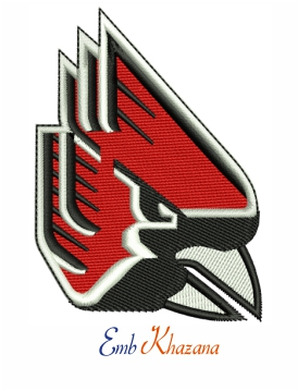 Ball State Cardinals logo embroidery design